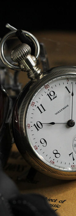 ウォルサム 大型の素朴なアンティーク懐中時計 【1900年頃】-P2297-1