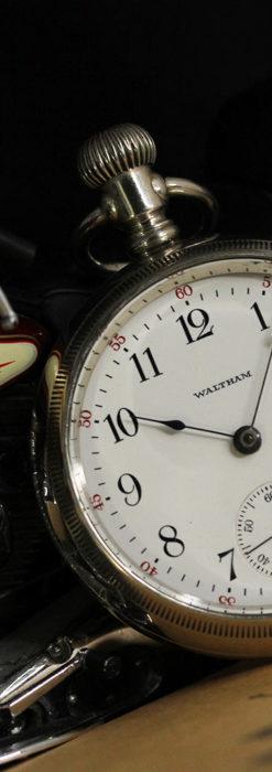 ウォルサム 大型の素朴なアンティーク懐中時計 【1900年頃】-P2297-2