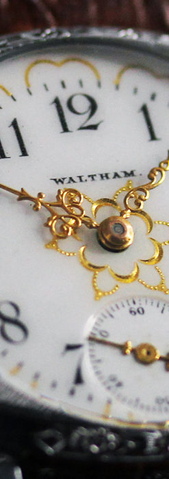 ウォルサムのアンティーク腕時計 輝く星と5つの半月 【1900年頃】-W1517-11
