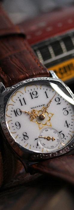 ウォルサムのアンティーク腕時計 輝く星と5つの半月 【1900年頃】-W1517-2
