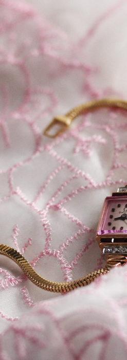 オメガ 18金アンティーク腕時計 14石のルビー&ダイヤモンド 【1939年製】-W1518-2