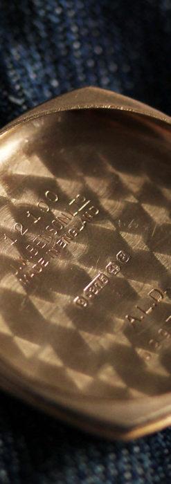 ベンソン クッション型 9金無垢アンティーク腕時計 【1954年頃】-W1519-17