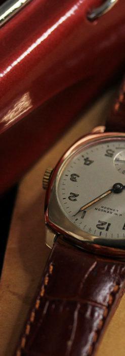 ベンソン クッション型 9金無垢アンティーク腕時計 【1954年頃】-W1519-2