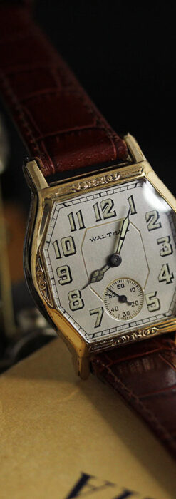 ウォルサムの六角形の趣きあるアンティーク腕時計 【1920年頃】-W1520-2
