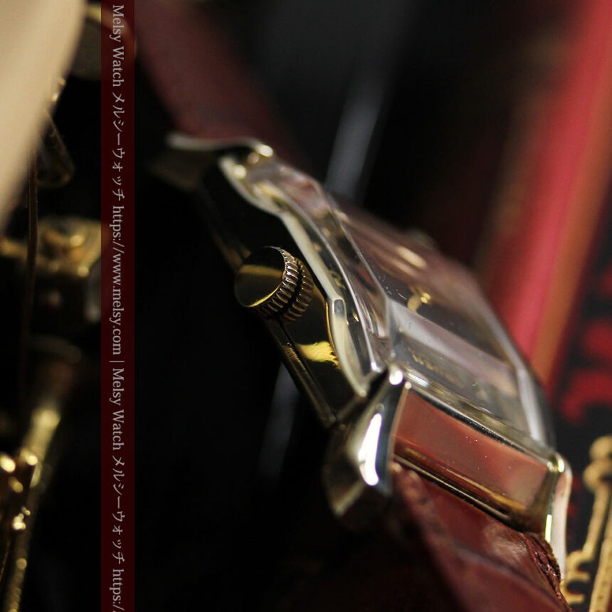 グリュエン 黒文字盤の渋さの光るアンティーク腕時計 【1945年頃】-W1521-14