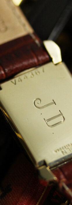 グリュエン 黒文字盤の渋さの光るアンティーク腕時計 【1945年頃】-W1521-15