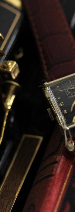 グリュエン 黒文字盤の渋さの光るアンティーク腕時計 【1945年頃】-W1521-9