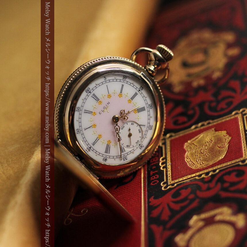エルジン アンティーク懐中時計 5つのダイヤモンドを束ねる 【1900年頃】-P2300-1