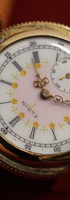 エルジン アンティーク懐中時計 5つのダイヤモンドを束ねる 【1900年頃】-P2300-10