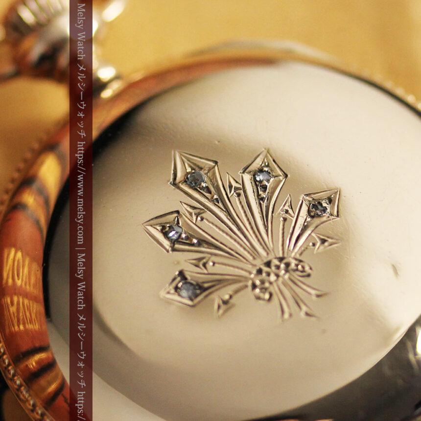 エルジン アンティーク懐中時計 5つのダイヤモンドを束ねる 【1900年頃】-P2300-11