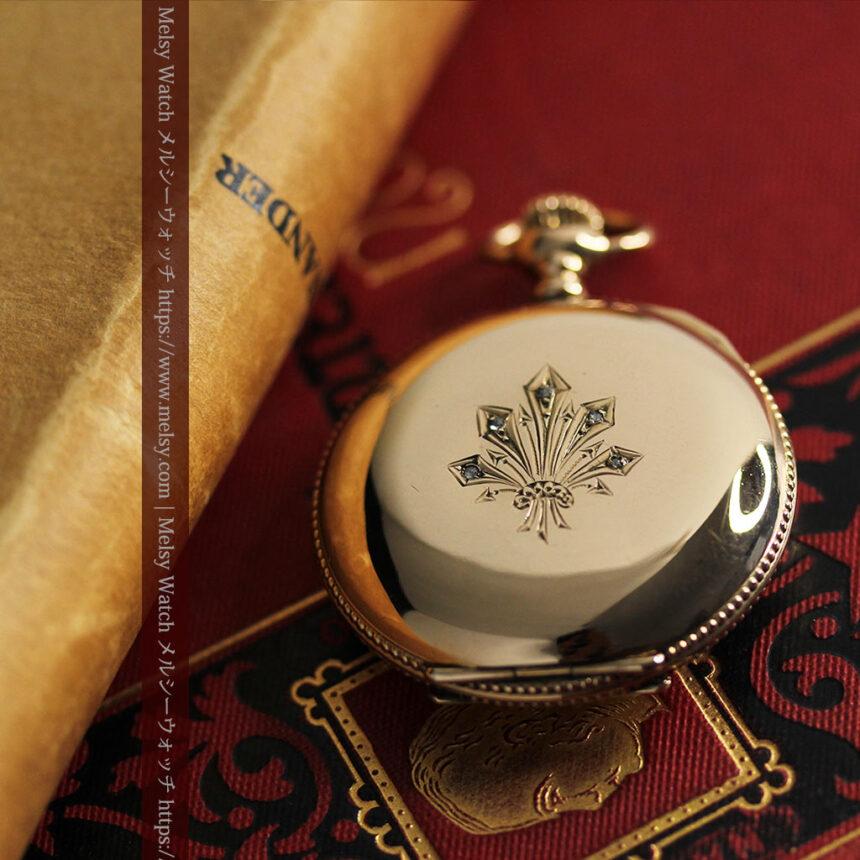 エルジン アンティーク懐中時計 5つのダイヤモンドを束ねる 【1900年頃】-P2300-12