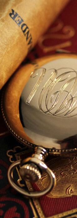 エルジン アンティーク懐中時計 5つのダイヤモンドを束ねる 【1900年頃】-P2300-13