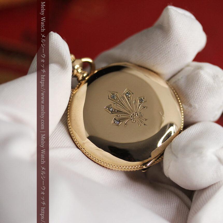 エルジン アンティーク懐中時計 5つのダイヤモンドを束ねる 【1900年頃】-P2300-14