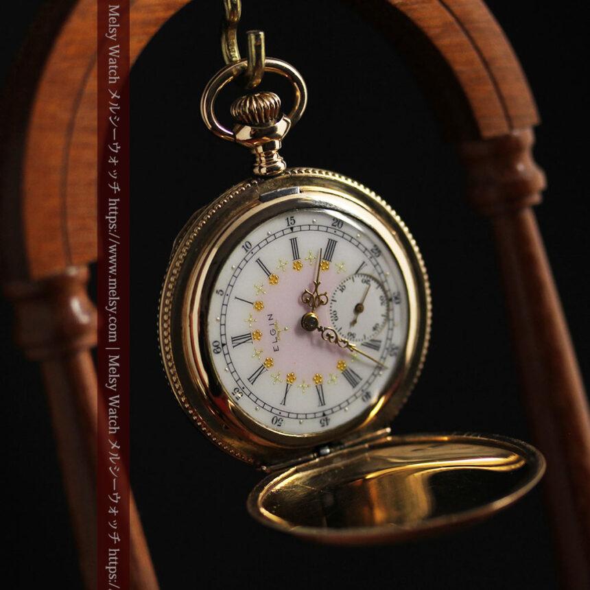 エルジン アンティーク懐中時計 5つのダイヤモンドを束ねる 【1900年頃】-P2300-16