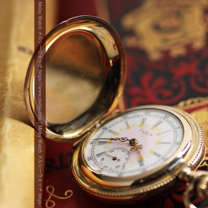 エルジン アンティーク懐中時計 5つのダイヤモンドを束ねる 【1900年頃】-P2300-17