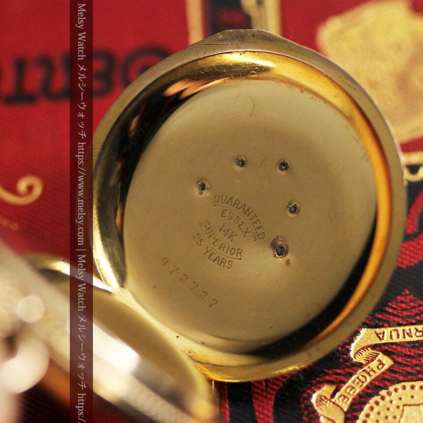 エルジン アンティーク懐中時計 5つのダイヤモンドを束ねる 【1900年頃】-P2300-18