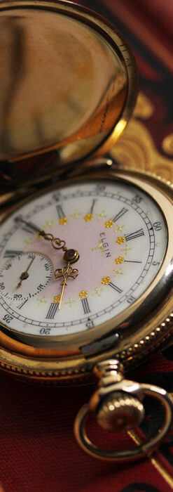 エルジン アンティーク懐中時計 5つのダイヤモンドを束ねる 【1900年頃】-P2300-2