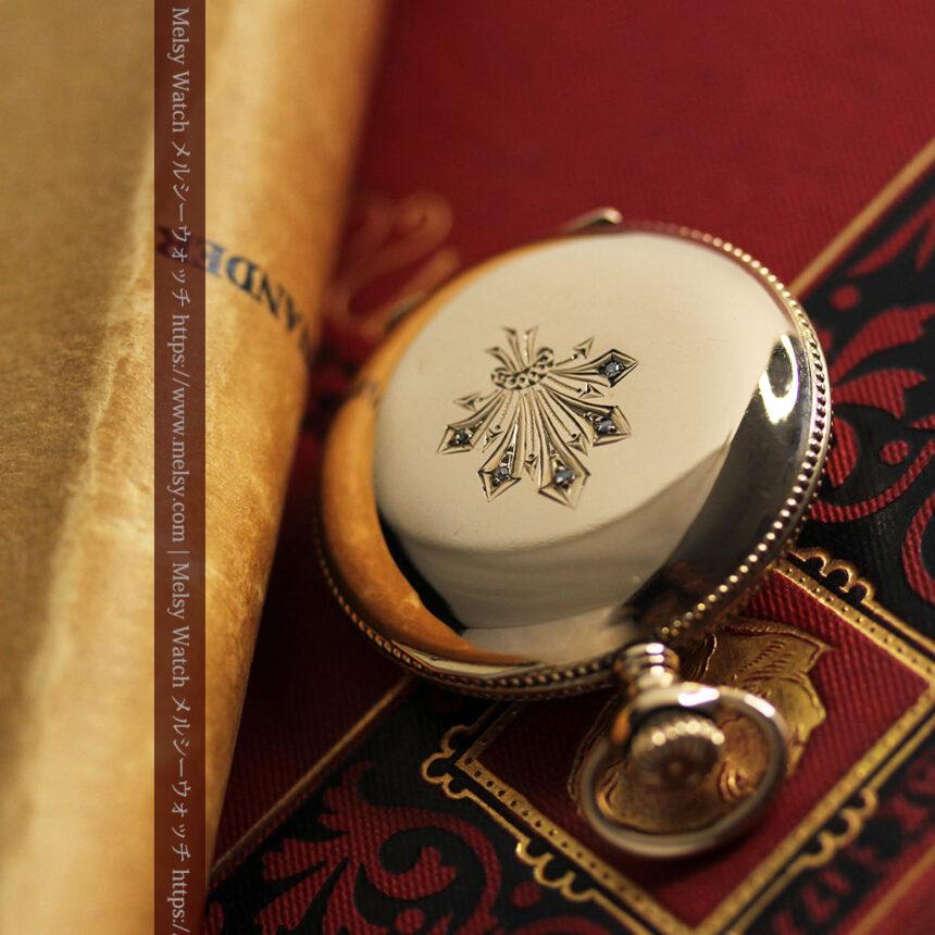 エルジン アンティーク懐中時計 5つのダイヤモンドを束ねる 【1900年頃】-P2300-3