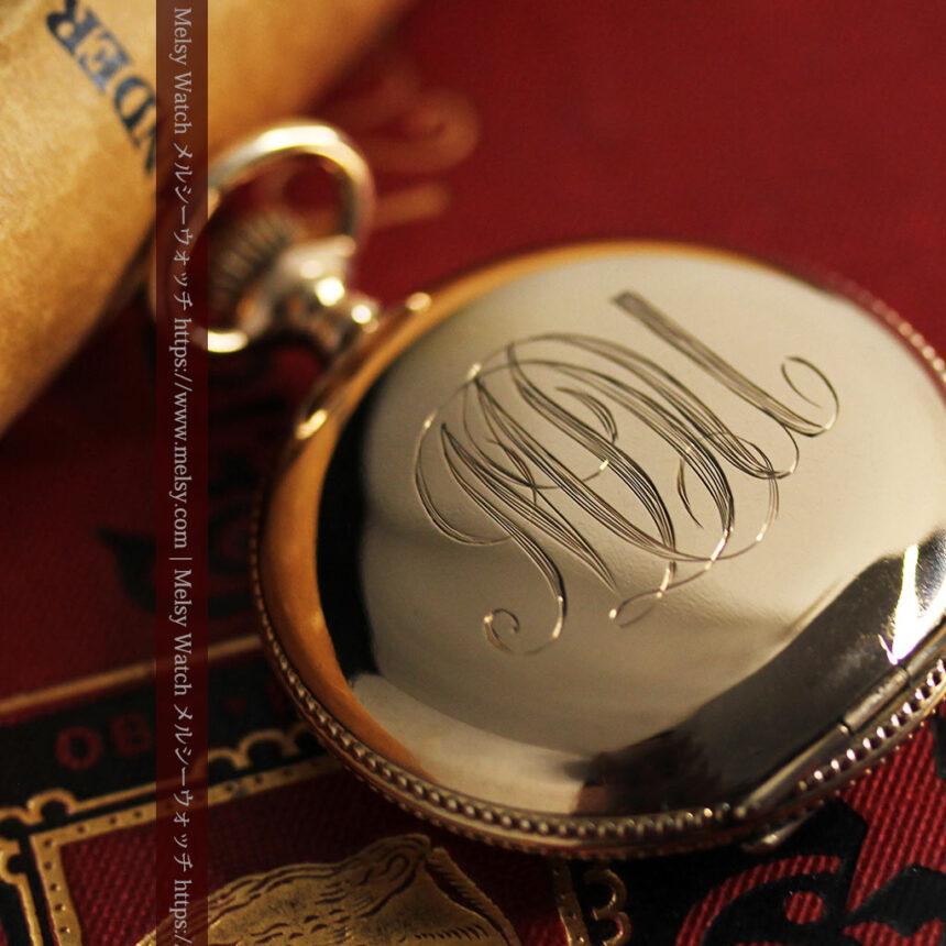 エルジン アンティーク懐中時計 5つのダイヤモンドを束ねる 【1900年頃】-P2300-4