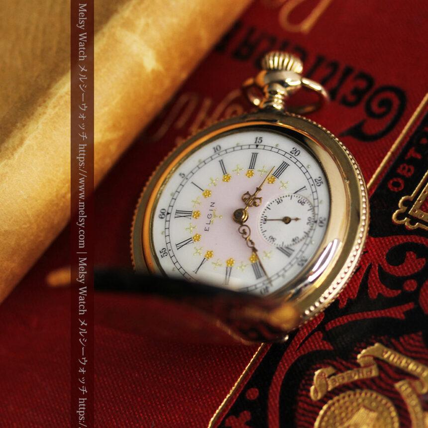 エルジン アンティーク懐中時計 5つのダイヤモンドを束ねる 【1900年頃】-P2300-5