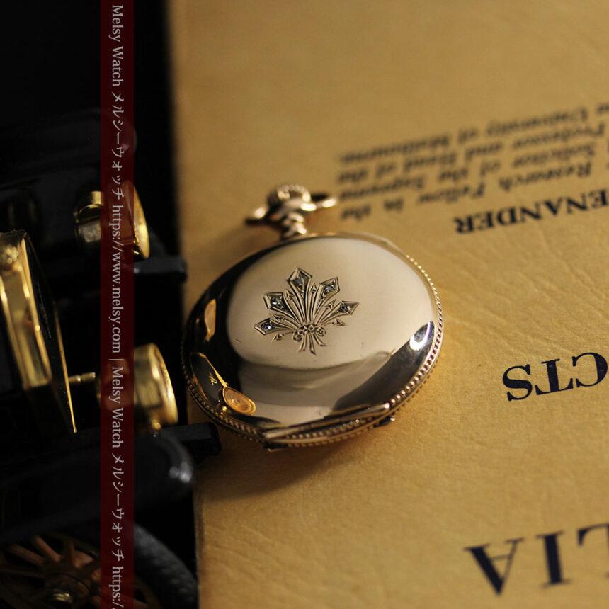 エルジン アンティーク懐中時計 5つのダイヤモンドを束ねる 【1900年頃】-P2300-7