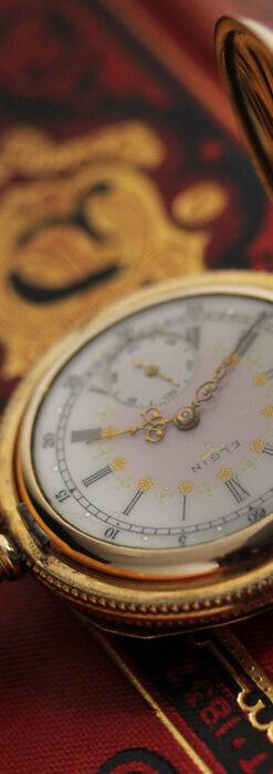 エルジン アンティーク懐中時計 5つのダイヤモンドを束ねる 【1900年頃】-P2300-9