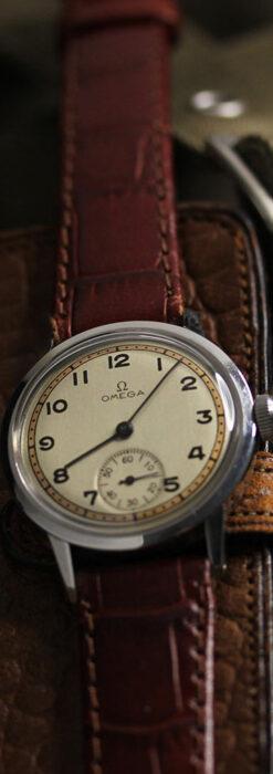 オメガ カジュアルでレトロなアンティーク腕時計 【1940年製】-W1522-10