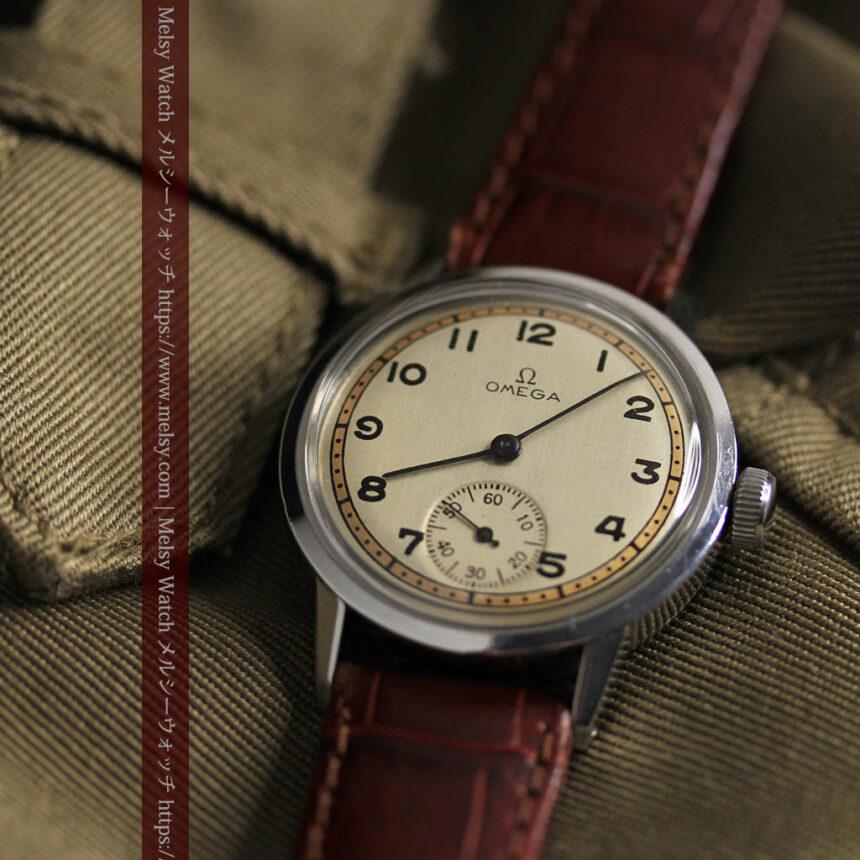 オメガ カジュアルでレトロなアンティーク腕時計 【1940年製】-W1522-13