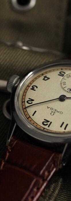 オメガ カジュアルでレトロなアンティーク腕時計 【1940年製】-W1522-14
