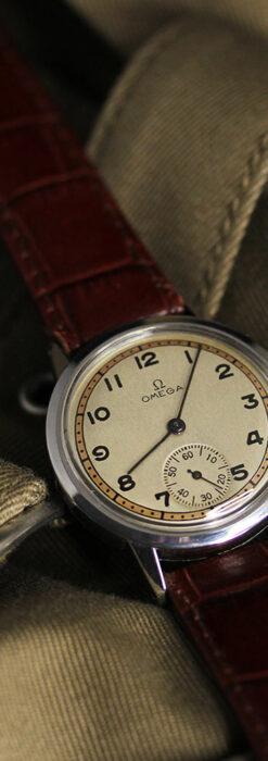 オメガ カジュアルでレトロなアンティーク腕時計 【1940年製】-W1522-3