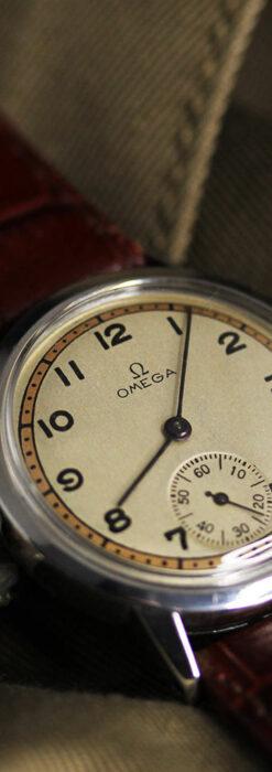 オメガ カジュアルでレトロなアンティーク腕時計 【1940年製】-W1522-4