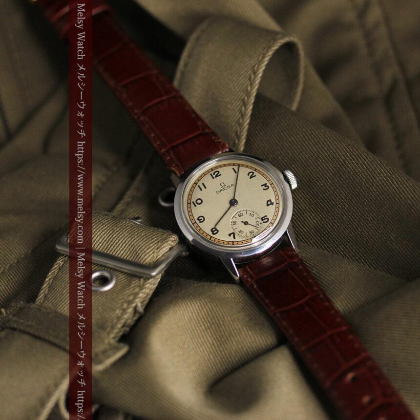 オメガ カジュアルでレトロなアンティーク腕時計 【1940年製】-W1522-5