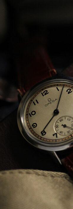 オメガ カジュアルでレトロなアンティーク腕時計 【1940年製】-W1522-7
