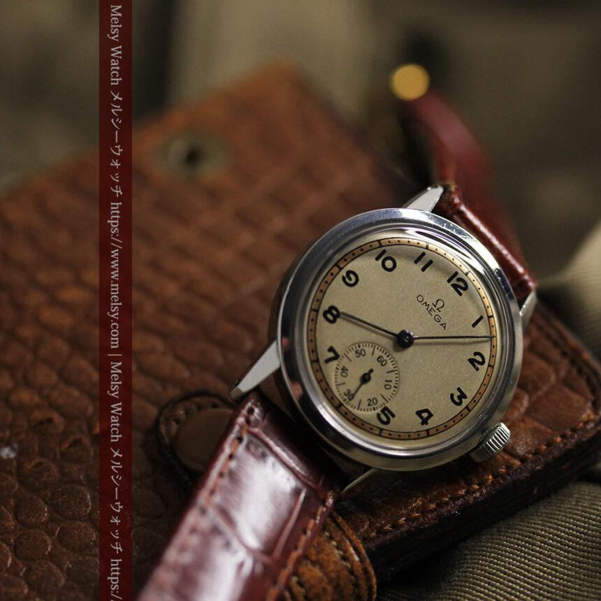 オメガ カジュアルでレトロなアンティーク腕時計 【1940年製】-W1522-8