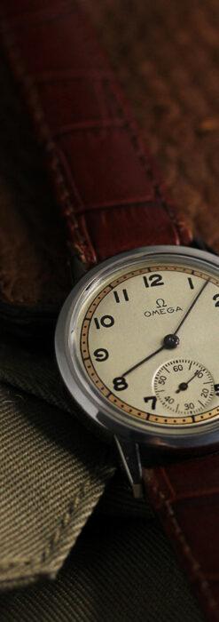 オメガ カジュアルでレトロなアンティーク腕時計 【1940年製】-W1522-9