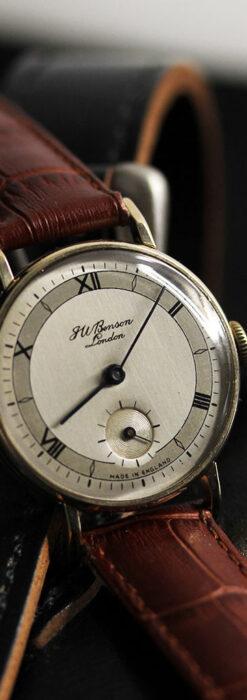 ベンソン レトロな美しさに魅入る9金無垢アンティーク腕時計 【1950年頃】-W1523-1
