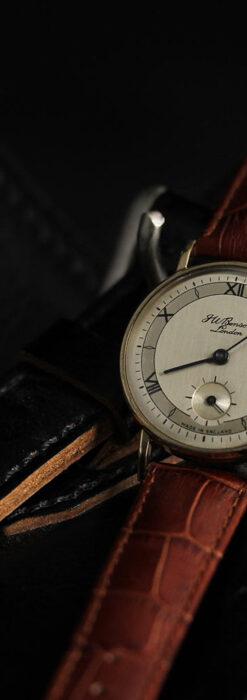ベンソン レトロな美しさに魅入る9金無垢アンティーク腕時計 【1950年頃】-W1523-2