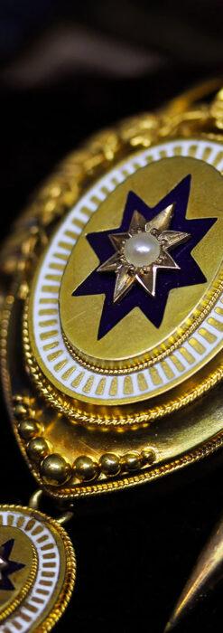 アンティークの品格と風格漂う18金ブローチとイヤリングのセット 【箱付き】-A0308-1