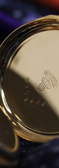 細やかな装飾の光るエルジンの金無垢アンティーク懐中時計 【1900年頃】-P2301-19