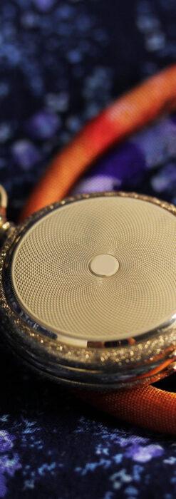 細やかな装飾の光るエルジンの金無垢アンティーク懐中時計 【1900年頃】-P2301-5