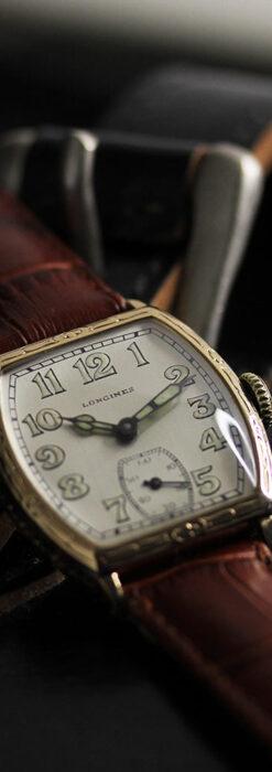 ロンジンのアンティークな面持ちが美しい樽型腕時計 【1928年頃】-W1525-1