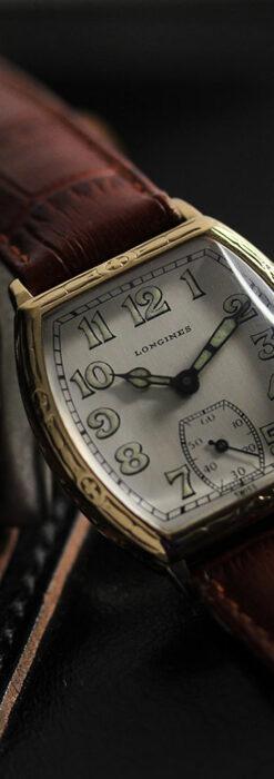 ロンジンのアンティークな面持ちが美しい樽型腕時計 【1928年頃】-W1525-2