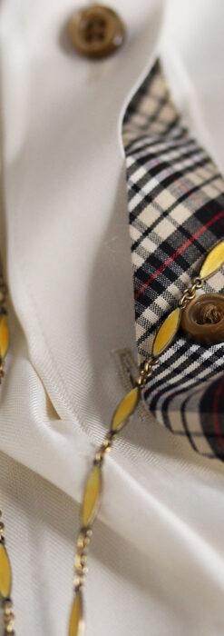 ブヘラの銀無垢ネックレス時計 梔子色のエナメル装飾【1960年頃】-P2302-10