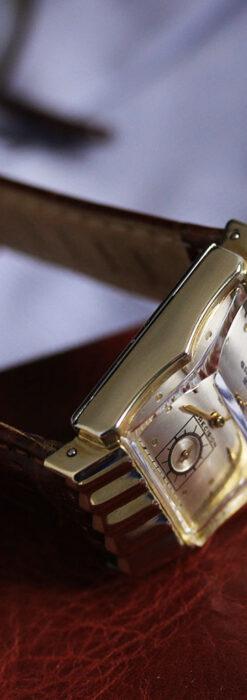 グリュエン 際立つ鋭角の煌びやかなアンティーク腕時計 【1951年頃】-W1294-1