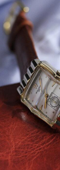 グリュエン 際立つ鋭角の煌びやかなアンティーク腕時計 【1951年頃】-W1294-12