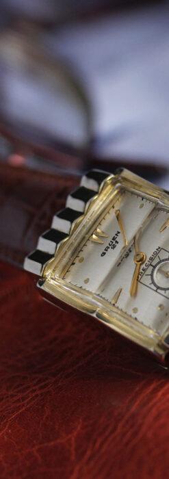 グリュエン 際立つ鋭角の煌びやかなアンティーク腕時計 【1951年頃】-W1294-14