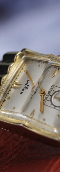 グリュエン 際立つ鋭角の煌びやかなアンティーク腕時計 【1951年頃】-W1294-15
