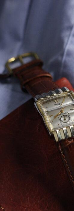 グリュエン 際立つ鋭角の煌びやかなアンティーク腕時計 【1951年頃】-W1294-2