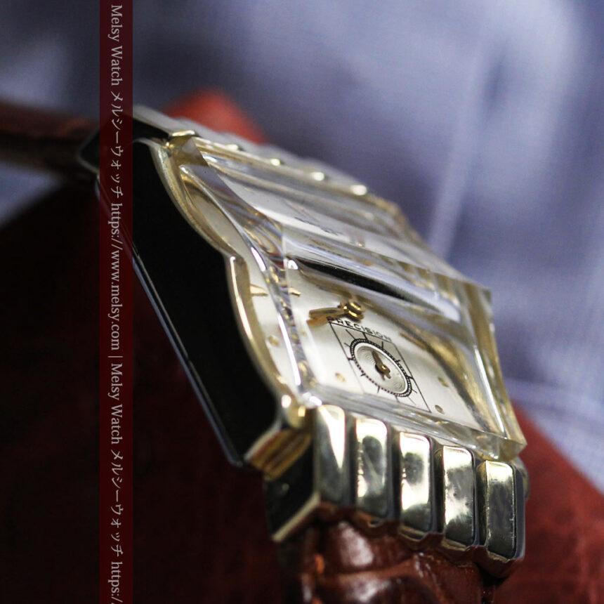 グリュエン 際立つ鋭角の煌びやかなアンティーク腕時計 【1951年頃】-W1294-20