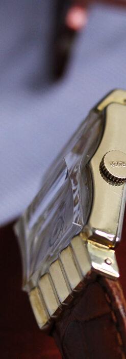 グリュエン 際立つ鋭角の煌びやかなアンティーク腕時計 【1951年頃】-W1294-21